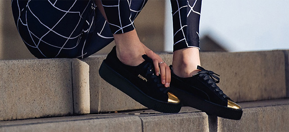 Puma Creepers Or Noir