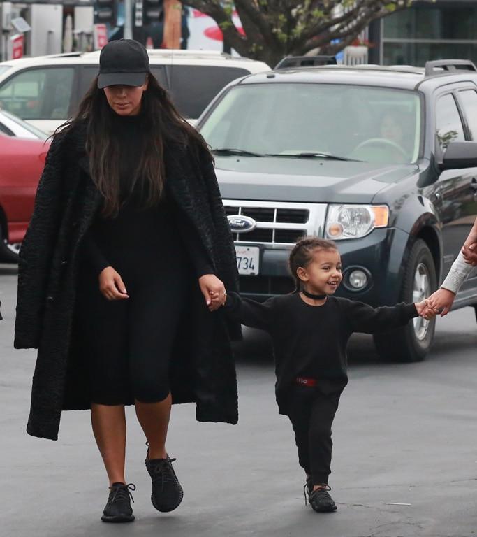 kim-kardashian-north-west-black-yeezys