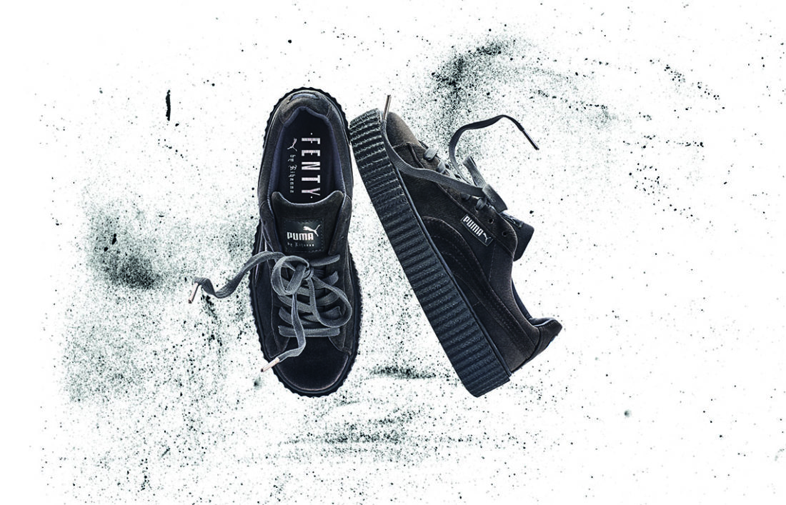 Puma Creepers Velours Rouge