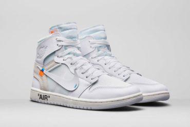 Air Jordan 1 Off White Blanche