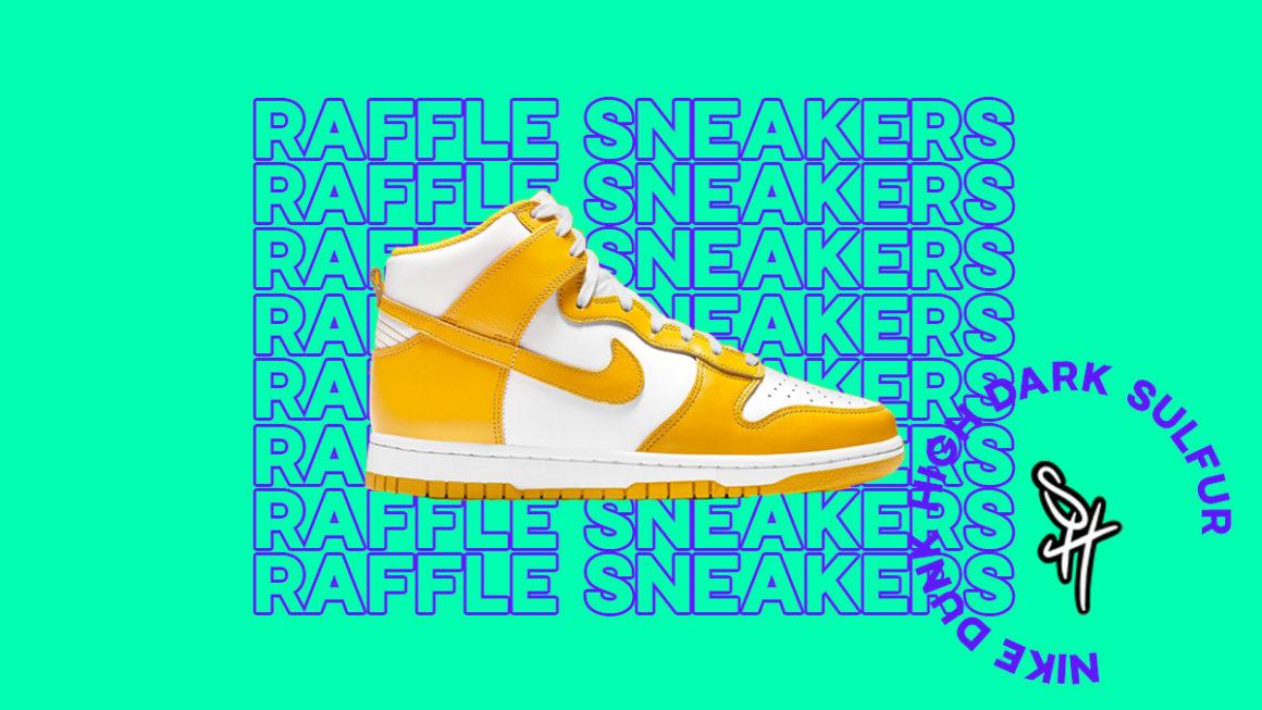 Raffle Nike Dunk High Dark Sulfur où et comment l'acheter ?